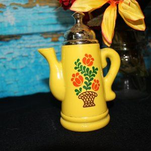 Vintage Avon Yellow Koffee Klatch Empty Coffee Tea